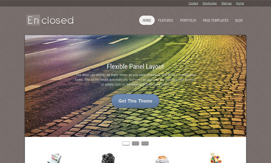 Enclosed WordPress Theme