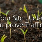 Improve web traffic by regularly updating your site with fresh content