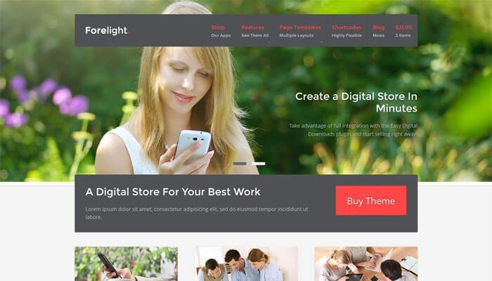 Forelight WordPress Theme