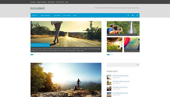 Eloquence WordPress Theme