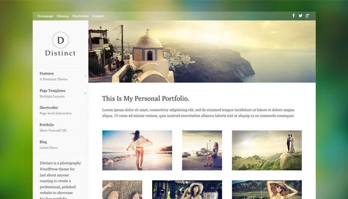 Distinct WordPress Theme