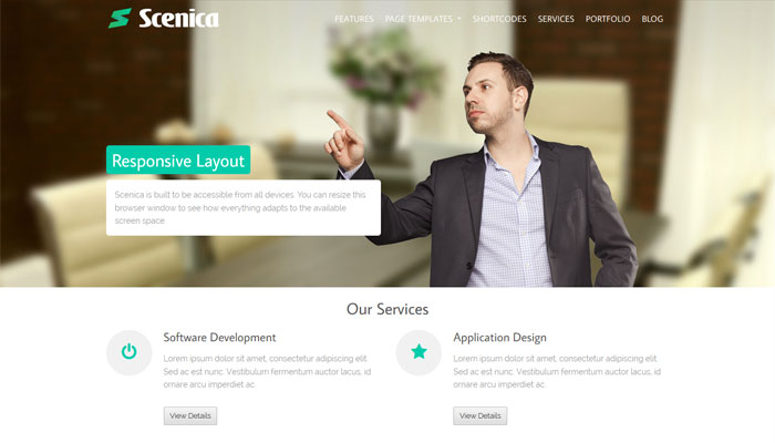 Scenica WordPress Theme